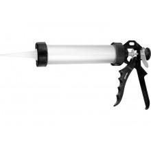 Пистолет для герметика, 750 мл, закрытый, алюминиевый корпус, круглый шток 8 мм SPARTA
